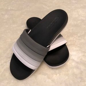 Adidas | Women's Black Ombré Slide Sandals
